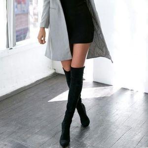 CHARLES DAVID New Black Thigh High Heels Boots 9.5